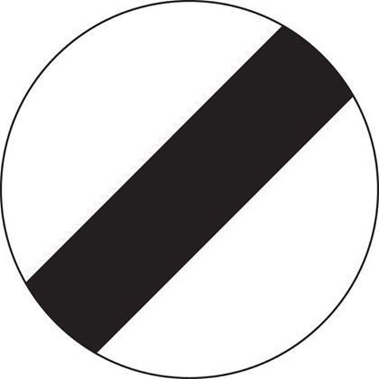 National Speed Limit road sign