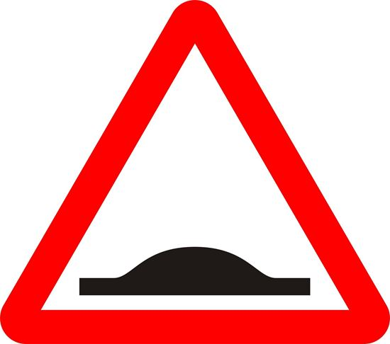 Road hump or series of road humps ahead road sign