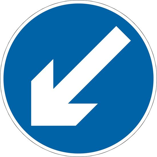 Vehicular traffic must comply with the requirements prescribed in regulation 15 road sign