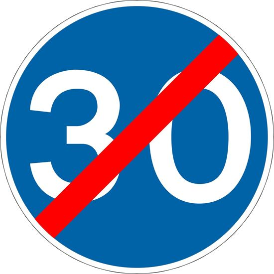 End of minimum speed limit road sign