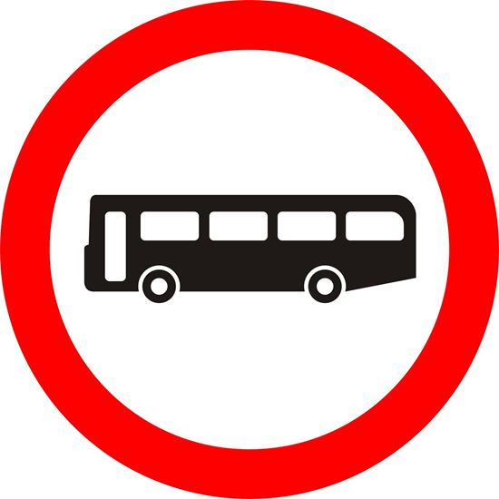 Buses prohibited road sign