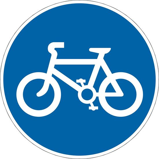 Route for use by pedal cycles only road sign