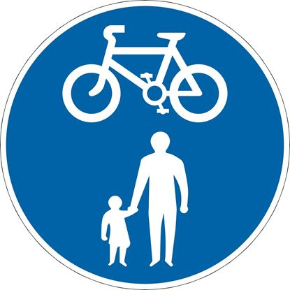 Route for use by pedal cycles and pedestrians only road sign