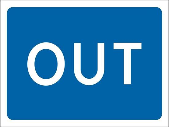 Out road sign