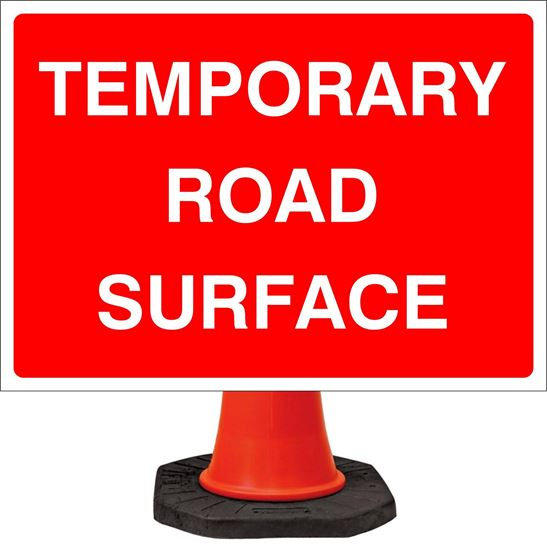 Temporary road surface road signs